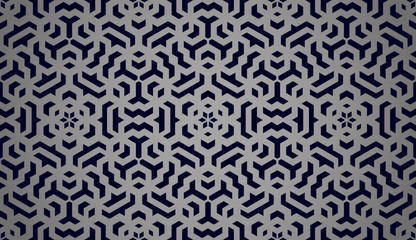 Fotobehang Boho Stijl Abstract geometric pattern. A seamless vector background. Black ornament. Graphic modern pattern. Simple lattice graphic design