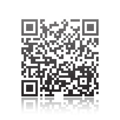 Qr code on white background