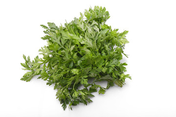 Fresh parsley isolated on a white background