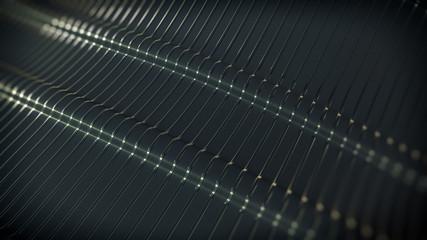 Dark Metallic Stripe Background