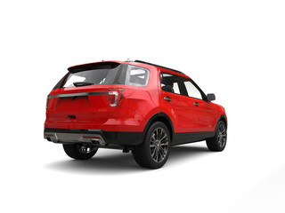 Modern big red SUV - rear view
