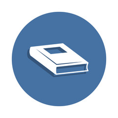 Book icon in badge style. One of education collection icon can be used for UI/UX