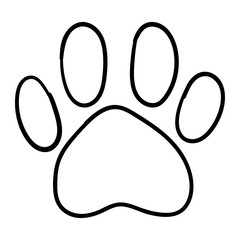 Monochrome black and white dog cat pet animal paw foot isolated hand drawn ink sketch art vector