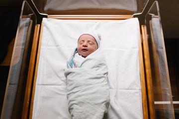 Newborn girl in hospital