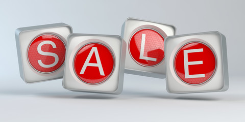 Sale Text 3D cubes