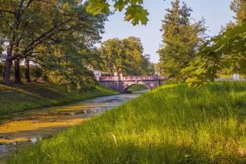 Landscape overlooking the Great Chinese Bridge in the Alexander Park, Tsarskoye Selo, Pushkin