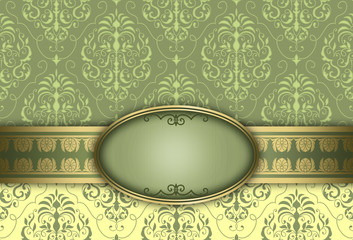Wall Mural - Decorative luxury background with frame.
