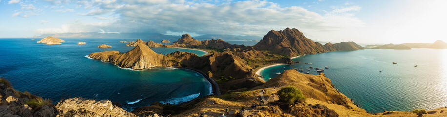 Padar Island, panoramic view.