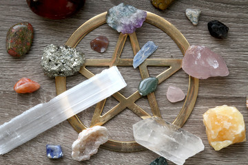 Pentagram and Crystals (Overhead)