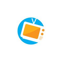 TV vector logo design template