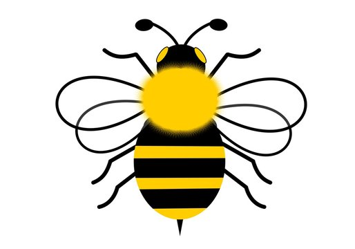 Isolated of flying bee illustration design