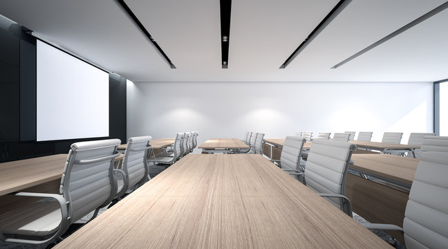 3d Rendering , Large size of Seminar room for event and lecture