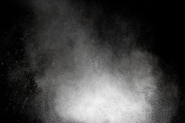 Powder explosion as background