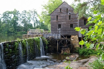 Summertime at Historic Yates Mill County Park in Raleigh North Carolina
