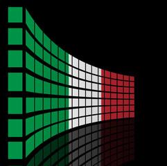 Italy flag concept