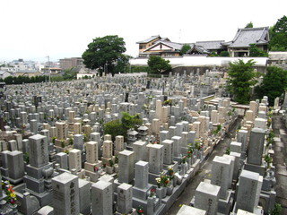 japanese grave yard in kyoto, japan Fototapete