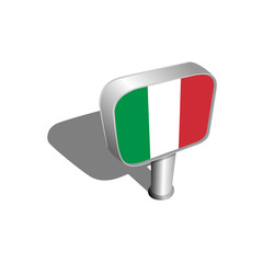Italy flag sign