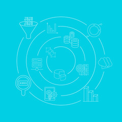 data analytics concept background, big data concept