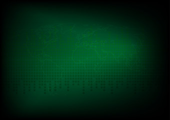 Abstract dark green color, Design for sci-fi space background .