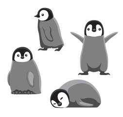Baby Penguin Cute Cartoon Vector Illustration