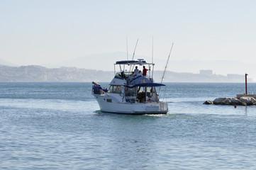 boat trip in the Mediterranean sea