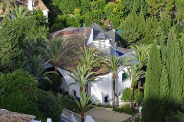 white Spanish villas