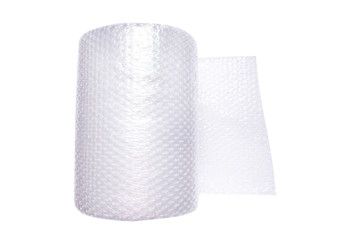 Roll of wrapping bubble film