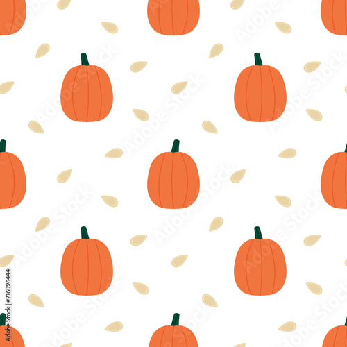Vector Seamless Pattern Background With Cute Cartoon