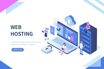 web hosting Wall mural