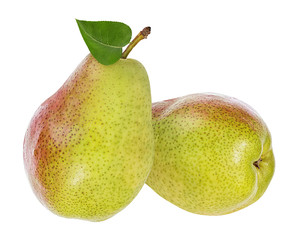 Fototapete - pears isolated on white background