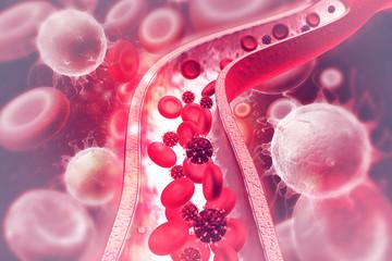 Virus in bloodstream