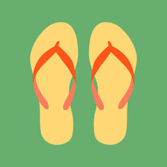 flip-flops  vector illustration flat style front