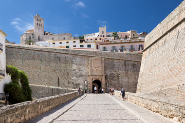 Ibiza-Stadt Hauptzugang Festung entzerrt