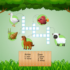 Animal farm crossword puzzles for kids games