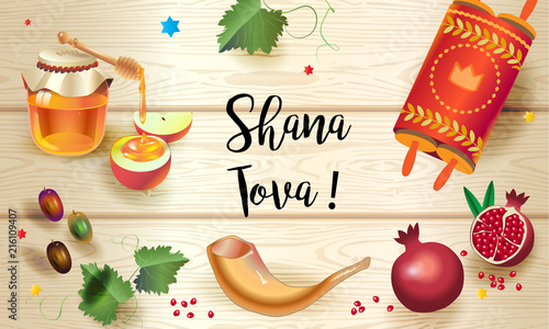 Rosh hashanah greeting card happy jewish new year text shana tova rosh hashanah greeting card happy jewish new year text shana tova on m4hsunfo