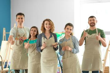 Group of people in school of painters