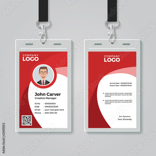 red corporate id card template stock image and royalty free vector