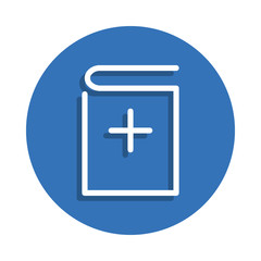 Add book icon. Element of education for mobile concept and web apps icon. Thin line icon with shadow in badge for website design and development, app development