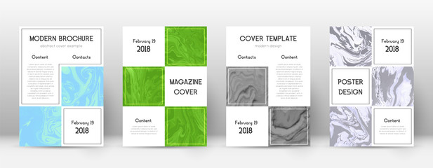 Abstract cover. Mind-blowing design template. Suminagashi marble business poster. Mind-blowing trend