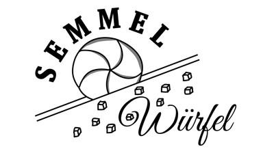 Semmelwürfel Logo mit Kaisersemmel