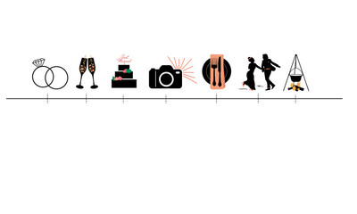 Wedding Timeline Icons