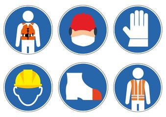 Schilder Arbeitssicherheit