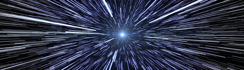 Stars Travel Hyperspace Wide size Banner Image Fotomurales