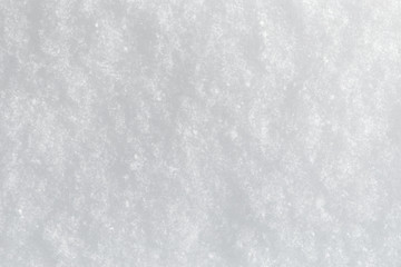 Even snow surface, background, with snowflakes and structure, winter