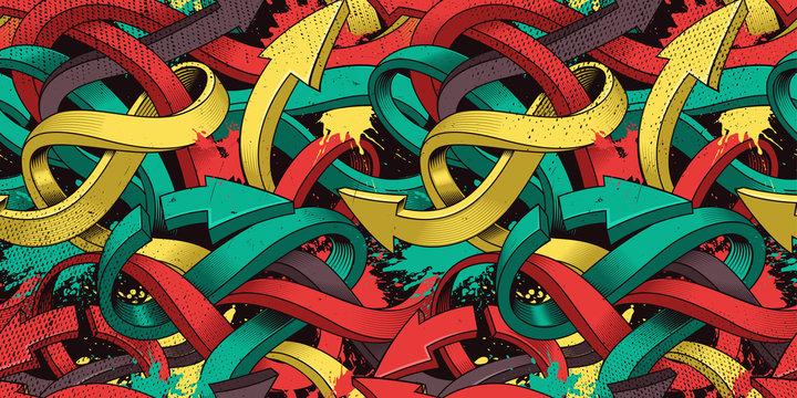 Graffiti art seamless background