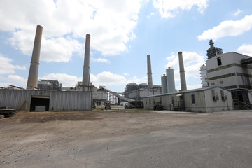 A general view shows NRG Power Plant in Richmond