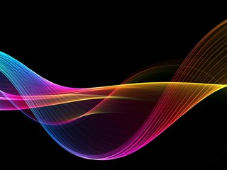 Abstract colorful elegant wave design
