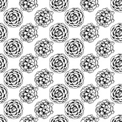 Simple seamless vector pattern with cones.