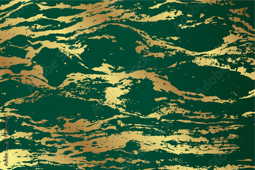Marble Emerald Green Texture Design With Golden Pattern For Wedding Invitation Card Background Product And Packaging