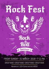 Rock n Roll Fest Forever Advertising Poster